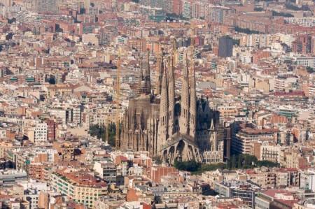 Vista panorámica de la Sagrada Familia