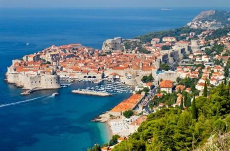 Panorámica de la ciudad amurallada. Dubrovnik