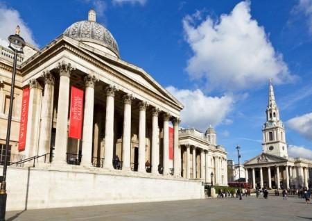 Entrada principal a la National Gallery de Londres