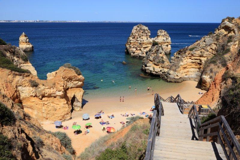 playas en la costa del Algarve