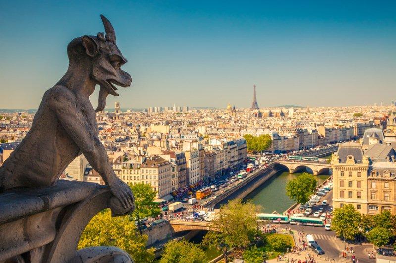 Gárgola en Notre Dame