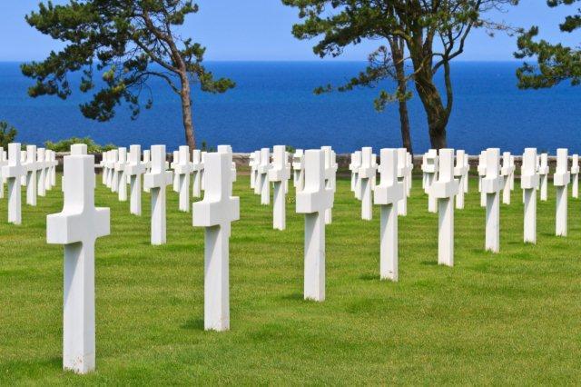 Cementerio americano en Normandia