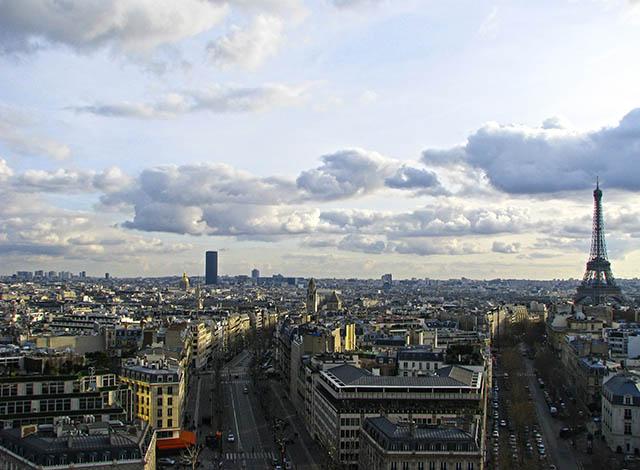 paris vista arco de triunfo